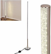Lampadaire Strip en métal, nickel mat, luminaire