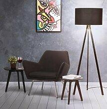 Lampadaire sur trépied en métal noir - Triptik