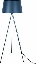 Lampadaire trépied métal bleu  - H155cm