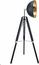 Lampadaire trépied métal lampe de salon