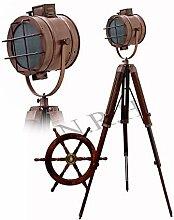 Lampadaire vintage industriel en cuivre avec