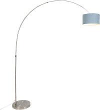 Lampe à arc en acier avec abat-jour 35/35/20 bleu