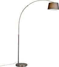 Lampe à arc en acier moderne avec abat-jour en