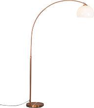 Lampe à arc moderne en cuivre avec abat-jour