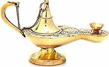 Lampe a huile de table en bronze, culte chretien