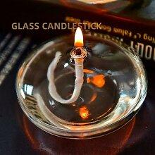 Lampe à huile en verre Transparent de grande