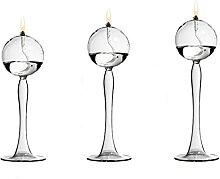 Lampe à huile en verre transparent moderne cadeau