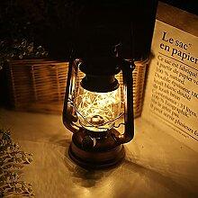 Lampe à huile LED rétro - Lampe tempête à LED