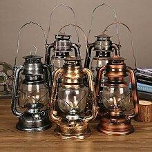 Lampe à huile rétro Vintage en métal, lanterne