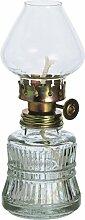 Lampe à huile style antique en verre transparent