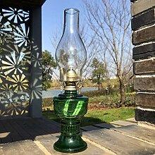 Lampe a Huile Verre Lampe Petrole Ancienne Rétro