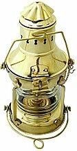 Lampe à huile vintage en laiton pour bateau