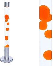 Lampe à lave cylindrique XXL cire ALAN orange