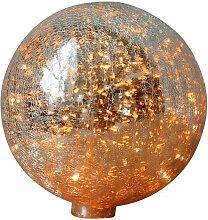 Lampe à poser 20 cm boule en verre mercurisé