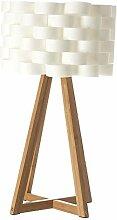 Lampe à poser au style épuré - Pied en bambou