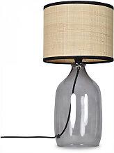 Lampe à poser avec base en Verre coloris noir et