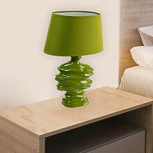 Lampe à poser céramique verte Lampe LED