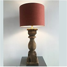 Lampe à poser Darney en bois patiné et abat-jour