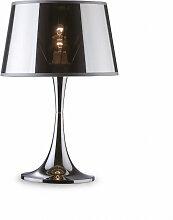 Lampe à poser design Bourgie en métal chromé