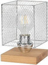 Lampe à Poser Design cage 21cm Chêne Huilé -
