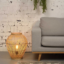 Lampe à poser en bambou naturel H50cm