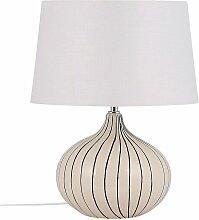 Lampe à poser en céramique beige 45 cm WIEN