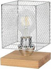 Lampe à poser en Chêne huilé, Design Cage