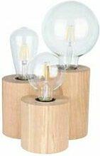 Lampe à poser en Chêne Huilé, Design Cylindre