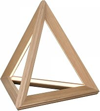 Lampe à poser en Chêne Huilé, Design Triangle
