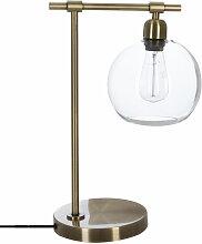 Lampe à poser en Métal & Abat-jour en Verre H 45