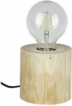 Lampe à Poser en Pin Naturel, Design Scandinave,