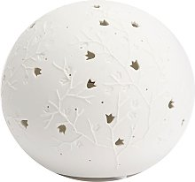 Lampe à poser en porcelaine blanche