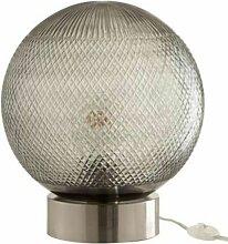 Lampe à Poser En Verre boule 27cm Argent - Paris