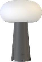 Lampe à poser extérieure solaire et filaire avec