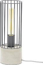 Lampe à poser industrielle en métal base ciment