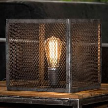Lampe à poser industrielle en métal gris CHICAGO