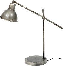 Lampe à poser industrielle en métal vieilli