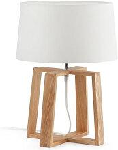 Lampe à poser KIA en bois au design scandinave et