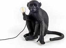 Lampe à poser MONKEY SITTING de Seletting, Noir