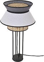 Lampe à poser Singapour Blanc / Anthracite en