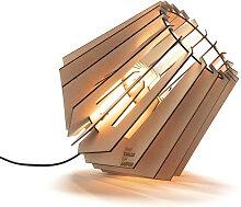 Lampe à poser SPOT-NIK en bois découpé au laser