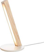 Lampe à poser tactile en bois Led 40 au design