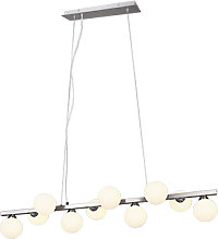 Lampe à suspension Art Déco acier avec verre