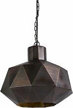 Lampe à suspension Art Déco cuivre - Trianga