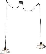 Lampe à suspension design 2 lumières avec