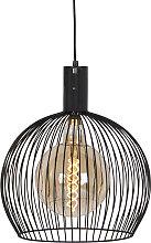 Lampe à suspension design noire 40 cm - Wire Dos