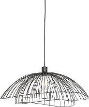 Lampe à suspension design noire 60 cm - Pua