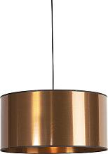 Lampe à suspension design noire avec abat-jour en