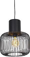 Lampe à suspension design noire - Baya