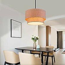 Lampe à suspension en tissu de lin, lampe de